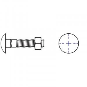 Kända Vagnsbult med mutter Varmförzinkad [FZV] UX-25